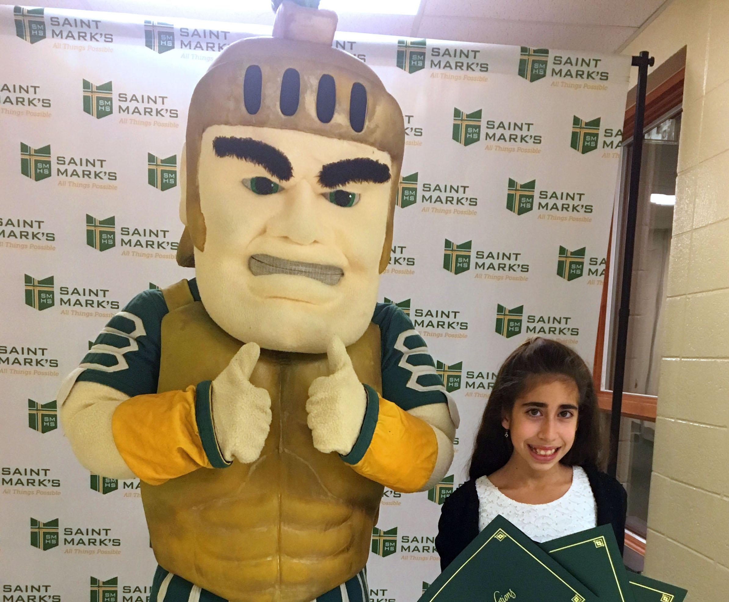 Eighth-grade pair recognized by St. Mark's