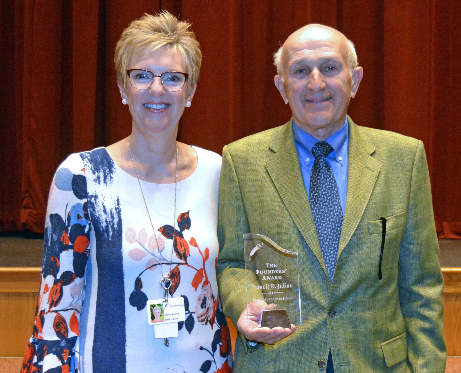 Francis Julian honored with Founders' Award