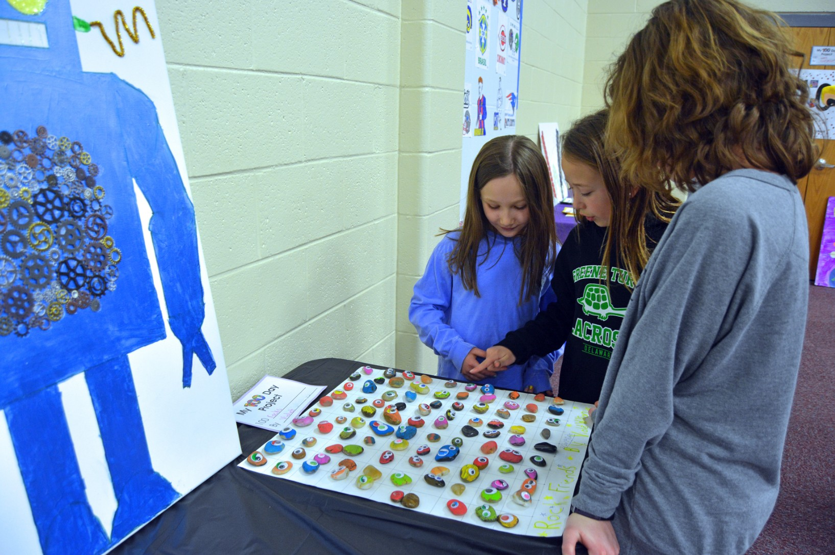 Kindergarten, 1st Grade open museum to celebrate 100th day of school